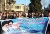حضور دانشگاهیان واحد نجف آباد در راهپیمایی علیه نا آرامی های اخیر